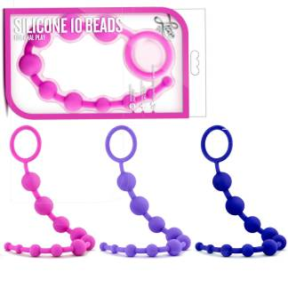 Silicone 10 Beads - Luxe - Boules Anales - Blush
