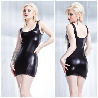 Robe en Wetlook - D9248 - Darque - Coquette