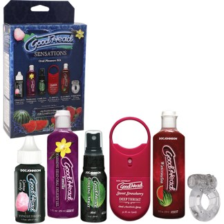Sensations Oral Pleasure Kit - Ensemble de Lotions pour le Sexe Oral - GoodHead - Doc Jonhson