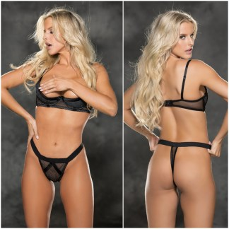 Soutient-Gorge Demi-Buste et String - 31423 - Shirley of Hollywood