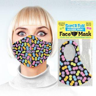 Super Fun Boobie Print - Masque Rigolo - Little Genie