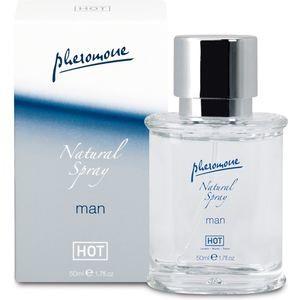 Natural Spray Man - Parfum avec Pheromones pour Lui - Hot