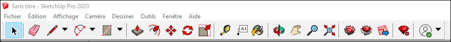 barre d'outils sketchup sur windows