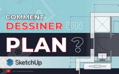 Comment dessiner un plan de maison ou d'appartement en 2D avec SketchUp ?