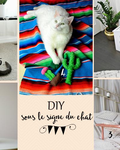 Lundi coup de ♥ : 5 DIY sous le signe du chat