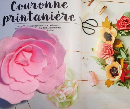 rose feutrine mollie makes