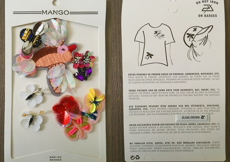 sew on badges mango