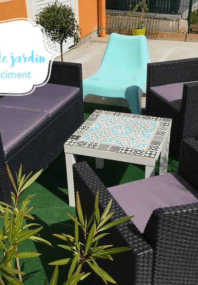 Comment faire une jolie table en carreaux de ciment