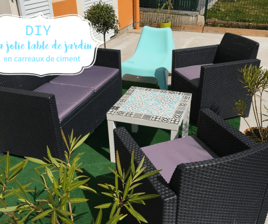 DIY table carreaux de ciment