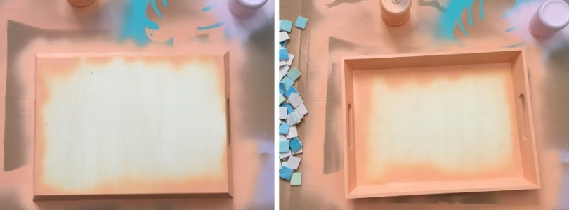 peindre plateau