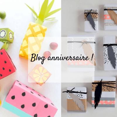 Blog anniversaire, un cadeau pour vous grâce à Graine Créative