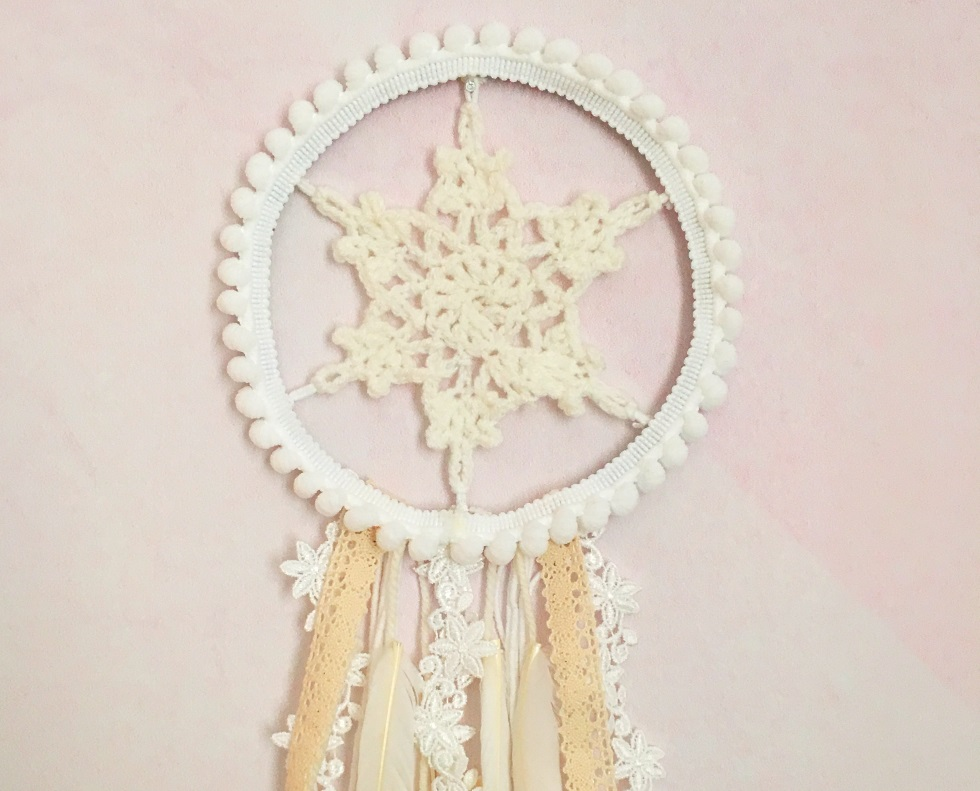 DIY : attrape-rêves flocon de neige