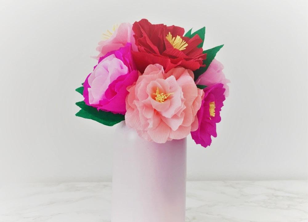DIY - Bouquet de fleurs en papier crépon