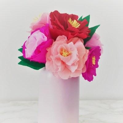 DIY – Bouquet de fleurs en papier crépon