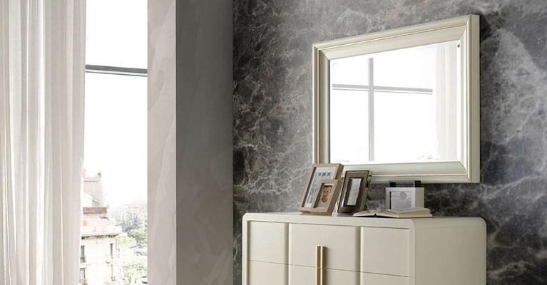 Muebles monrabal chirivella espejos colecci n olivia for Espejo pared dormitorio