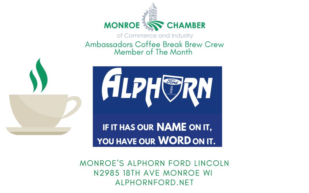 Ambassador's Chamber Member of the Month Coffee Break Brew Crew