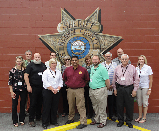 Future County Leaders Tour Monroe County Sheriff's Office and Jail
