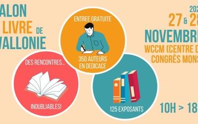 Salon du Livre de Wallonie au centre de congrès WCCM 27 & 28 novembre 2021