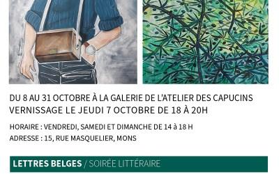 """Exposition """"Entrelacements Italo-Belges"""" à l'Atelier des Capucins à Mons du 8 au 31 octobre 2021"""