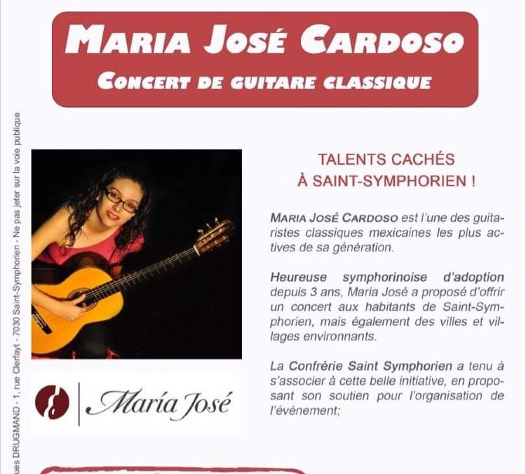 Concert de Maria José Cardoso sam 23 octobre Église de St-Symphorien