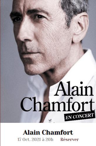 Concours Mons Blog : gagnez 3 x 2 places pour Alain Chamfort en concert dimanche 17 octobre 20h au Théâtre Royal de Mons