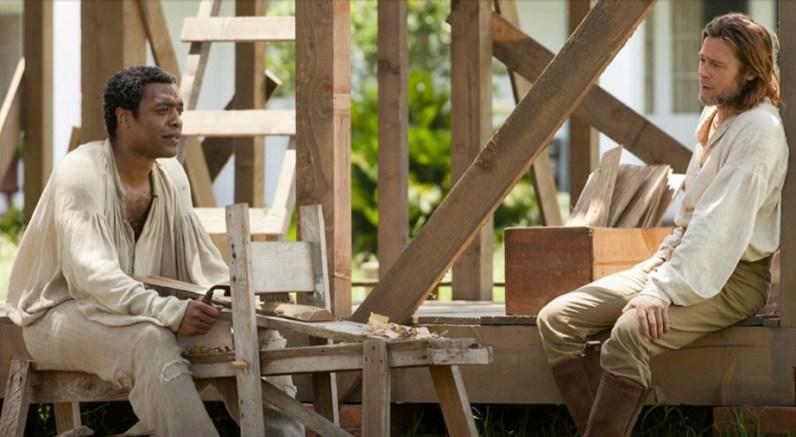 Chiwetel Ejiofor et Brad Pitt