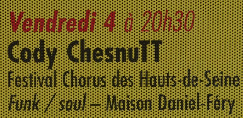 Annonce du concert de Cody Chesnutt ©Monsieur Benedict