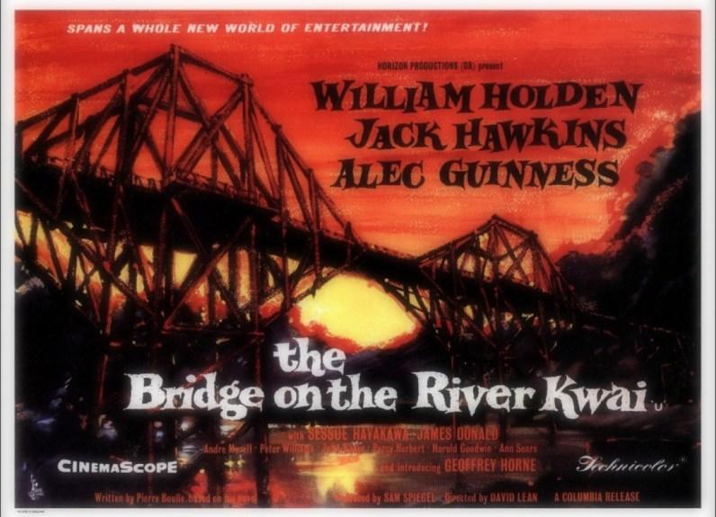 """Affiche """"le Pont de la rivière Kwai"""""""