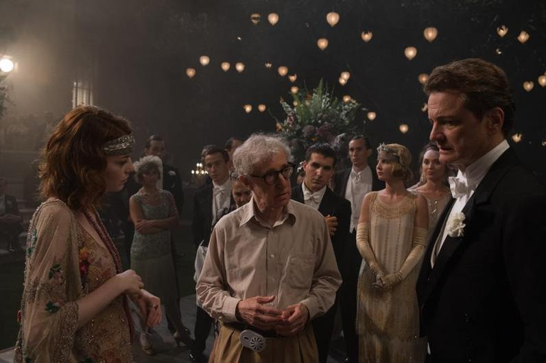 Emma Stone, Woody Allen et Colin Firth