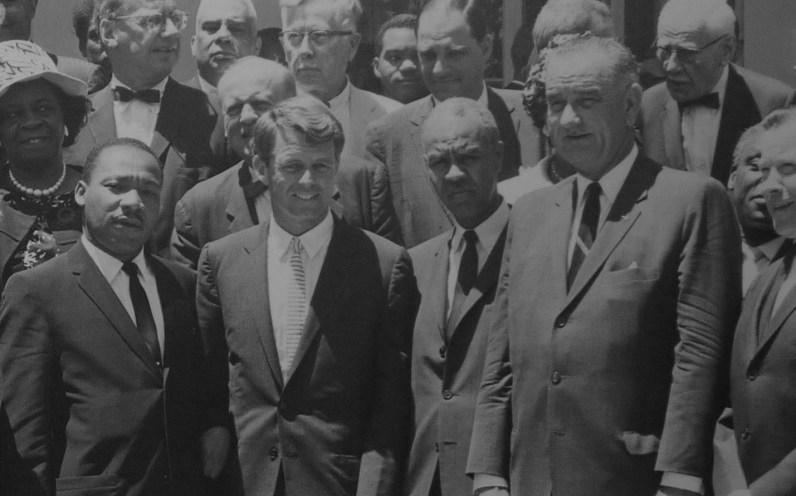 Martin Luther King, Robert Kennedy et Lyndon Baines Johnson