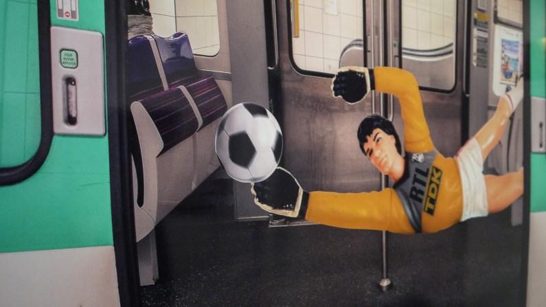 """Toy Story """"Goal du Métro"""" par Clarisse Rebotier ©Monsieur Bénédict"""