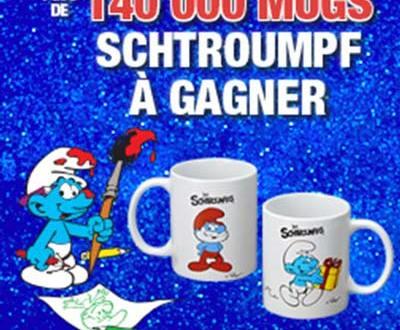 Magasin U des Cadeaux Gratuits et 140 000 Mugs Schtroumpfs à gagner !