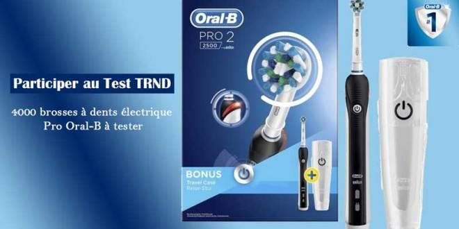 4000 brosses à dents électrique Pro Oral-B à tester