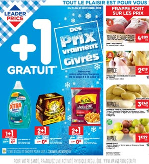 Catalogue Leader Price Du 09 Au 21 Octobre 2018