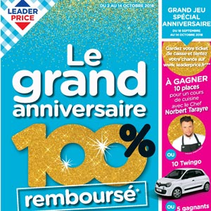Catalogue Leader Price Du 1er Au 14 Octobre 2018