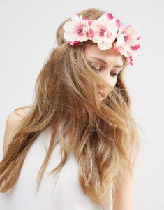 accessoire, hair, couronne de fleurs, flowers, asos, festival, boho, bohème