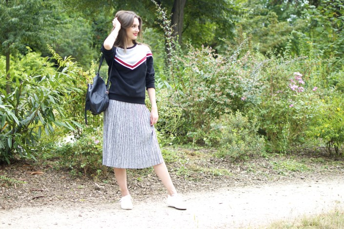 Midi skirt X sweat ... un look années 80