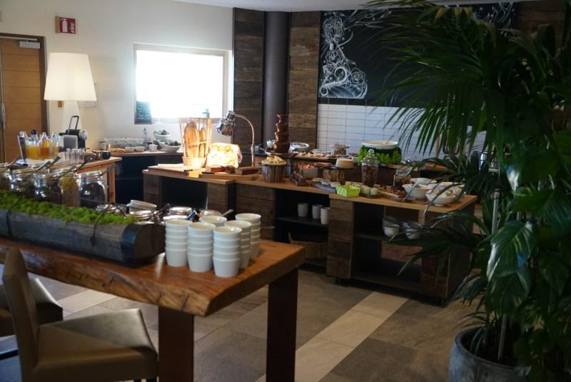 petit déjeuner, val thorens, hôtel, hôtel Pashmina, séjour, ski, montagne, le refuge, buffet, matin, restaurant, hôtel Pashmina