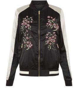 anita-and-green%a0-bomber-noir-a-fleurs-brodees