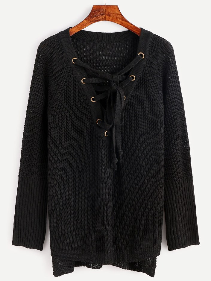 Pull lacets Shein SOLDES