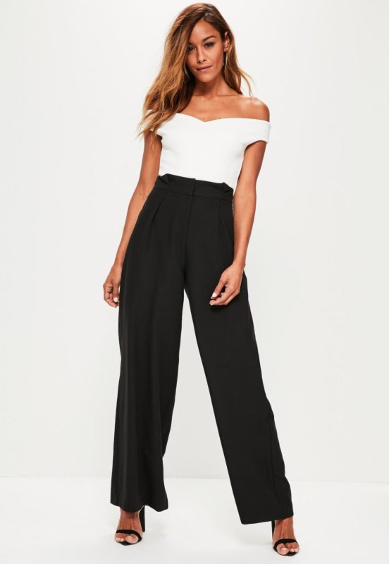 Pantalon large taille plissée MissGuided
