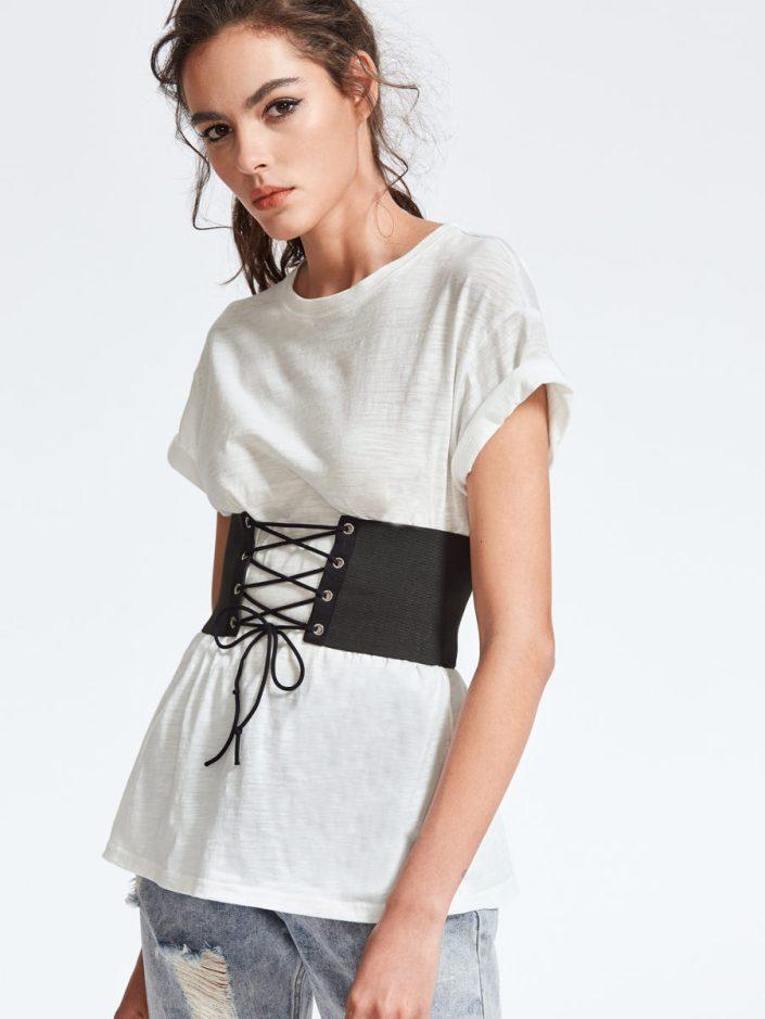 T-shirt corset Shein