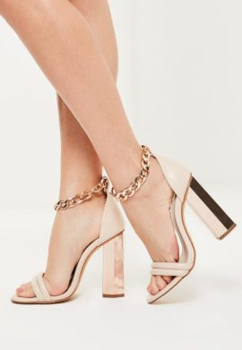 sandales--talons-rose-dores-avec-grosse-chane