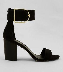 black-suede-buckle-strap-heels