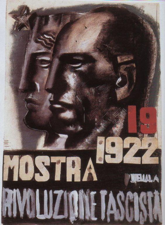 Affiche de la Mostra de Venise en 1922, propagande de Mussolini Source: Pinterest