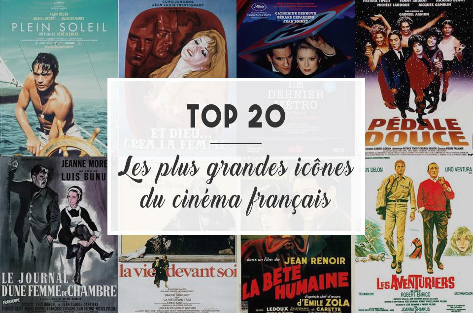 TOP 20 : Les plus grandes icônes du cinéma français