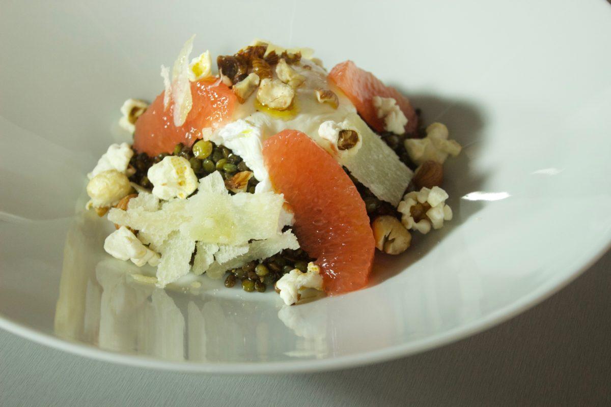 chef-valentin-pamplemousse-salade-lentilles-oeufs-pochés-monsieur-madame