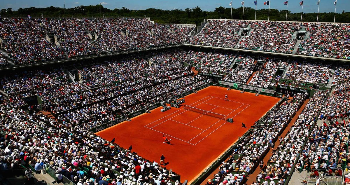 Stade de Roland-Garros durant la finale de 2015 Source: ATP World Tour