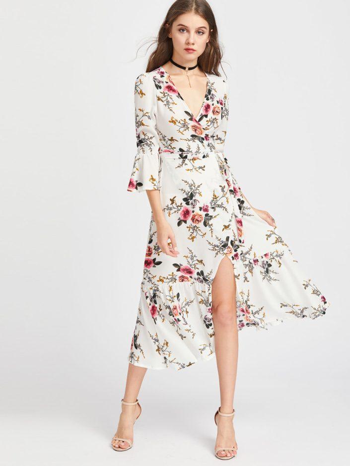 Robe imprimé fleuri Shein