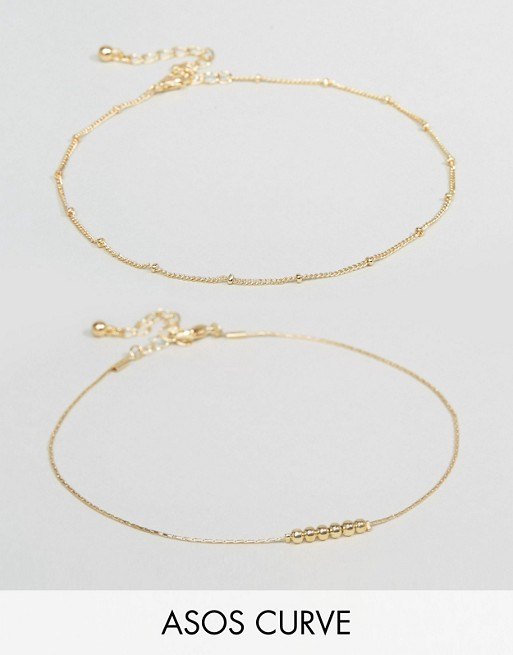 Lot de 2 bracelets chevilles